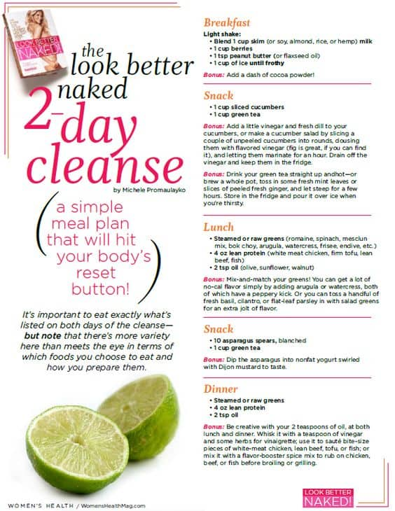 2 day cleanse diet