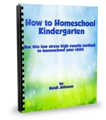 How to Homeschool Kindergarten