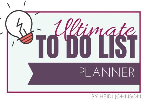 Ultimate To Do List  – Get it Here 7