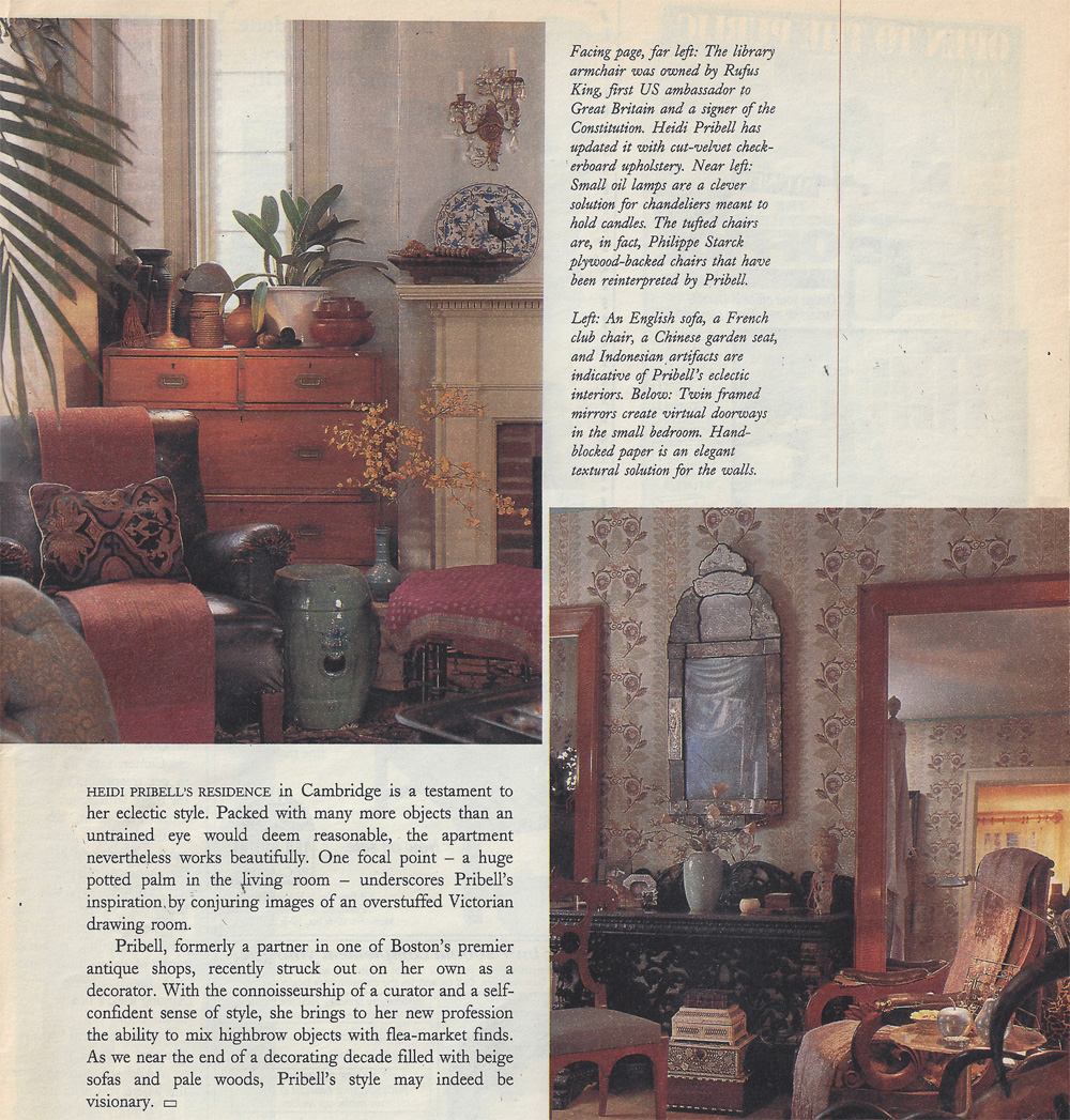 1998 Boston Globe Mag Interior Designer