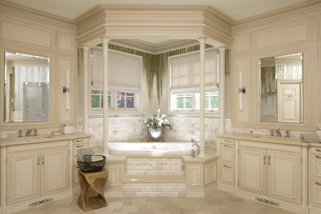 Master Bathroom by Interior Designer Boston & Cambridge, Heidi Pribell