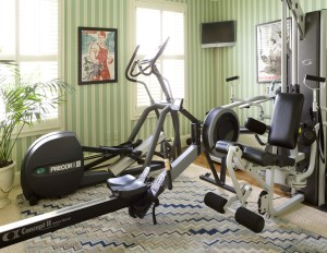 Gym by Interior Designer Boston & Cambridge, Heidi Pribell