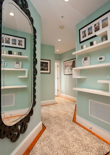 Hallway by Interior Designer Boston & Cambridge, Heidi Pribell