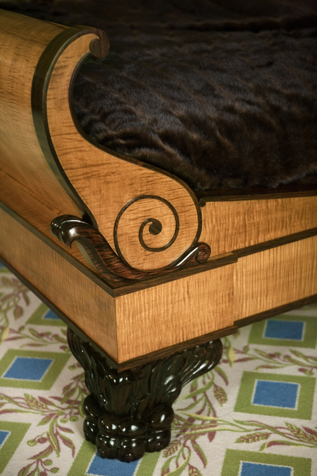 Heidi Pribell detail of sleigh bed