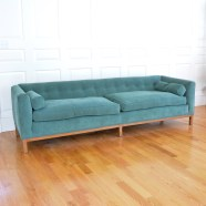 lot-1209_dunbar-green-plush-upholstered-low-back-settee