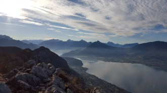 Mt Veyrier and Annecy's lake