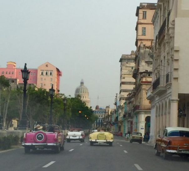 El_Prado_Havana_Cuba_with_Classic_Cars_by_Author_Heidi_Siefkas
