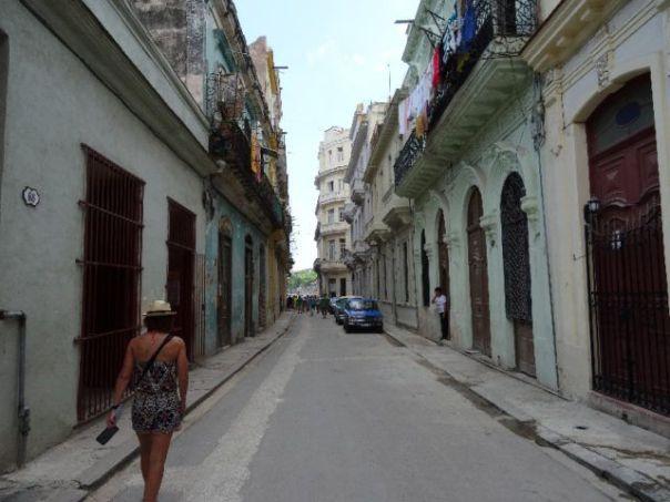 Author_Heidi_Siefkas_of_Cubicle_to_Cuba_walking_in-Old_Havana_Cuba