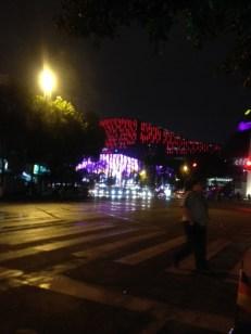Und das ist erst am Anfang eines Bezirkes der Stadt Chengdu.Wir stellen Hudo gleich ab um ihn nicht weiter zu strapazieren.