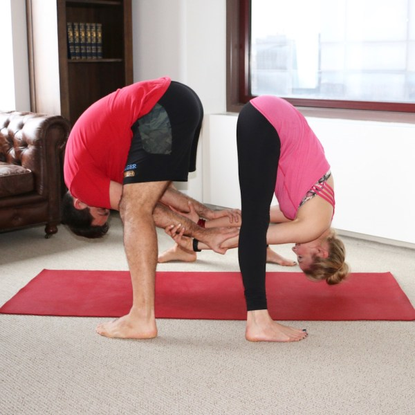 Yoga Poses Valentine Day Hint