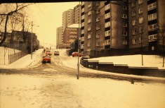 Looking up Ann St to the high flats. - Eric Webster