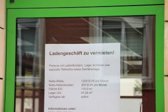 In der Neugasse liegt die Ladenmiete bei 10 €/m² - in den Eichplatz-Neubauten sollen es 40 €/m² werden.