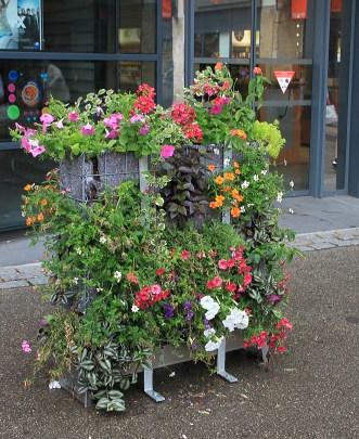 Blumen statt Steine - wozu Gabionen gut sein können