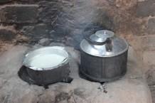An energy-saving stove at work
