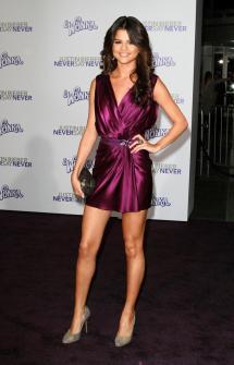 Selena Gomez Purple Dresses