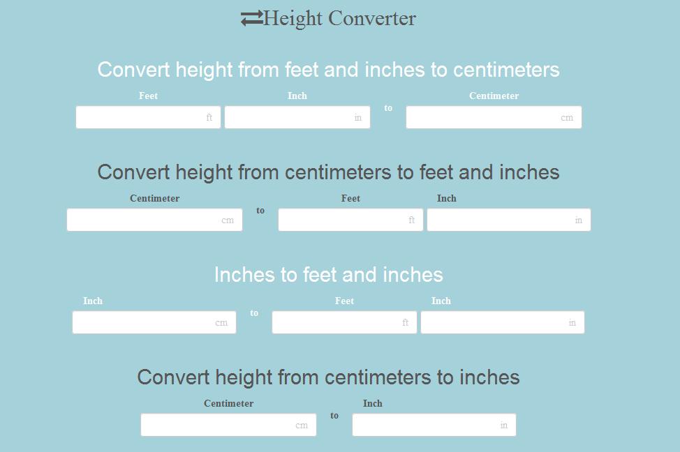 height converter