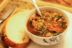 New Year Soup and Bread