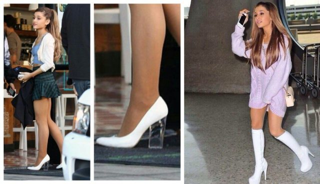 Ariana white shoes