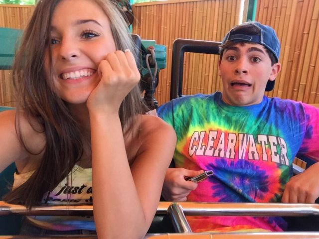 Taylor Alesia and Mikey Barone