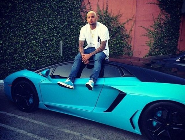 Chris Brown Car Lambo