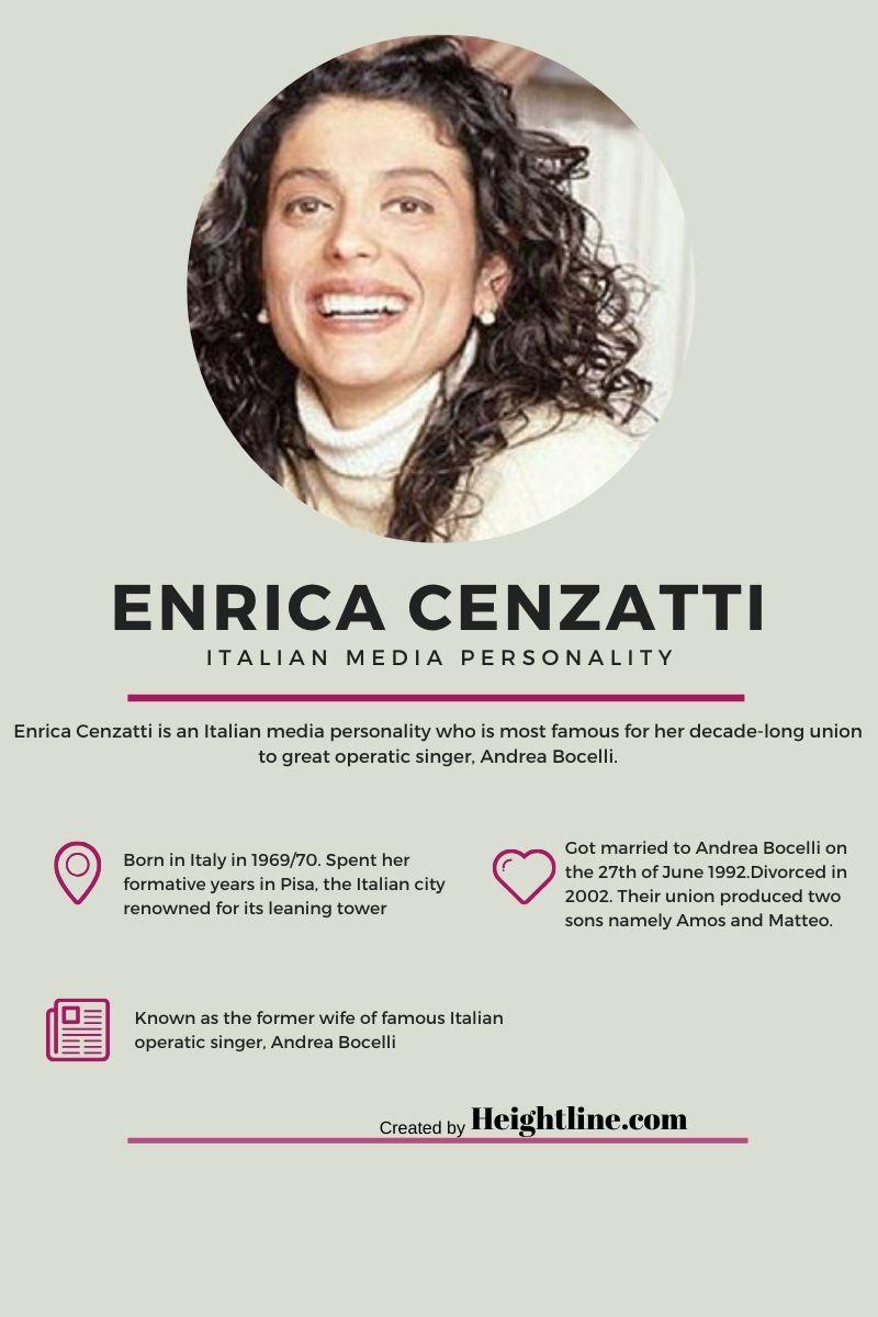 Andrea Bocelli Enrica Cenzatti : andrea, bocelli, enrica, cenzatti, Enrica, Cenzatti, Andrea, Bocelli's, Ex-Wife?, Details