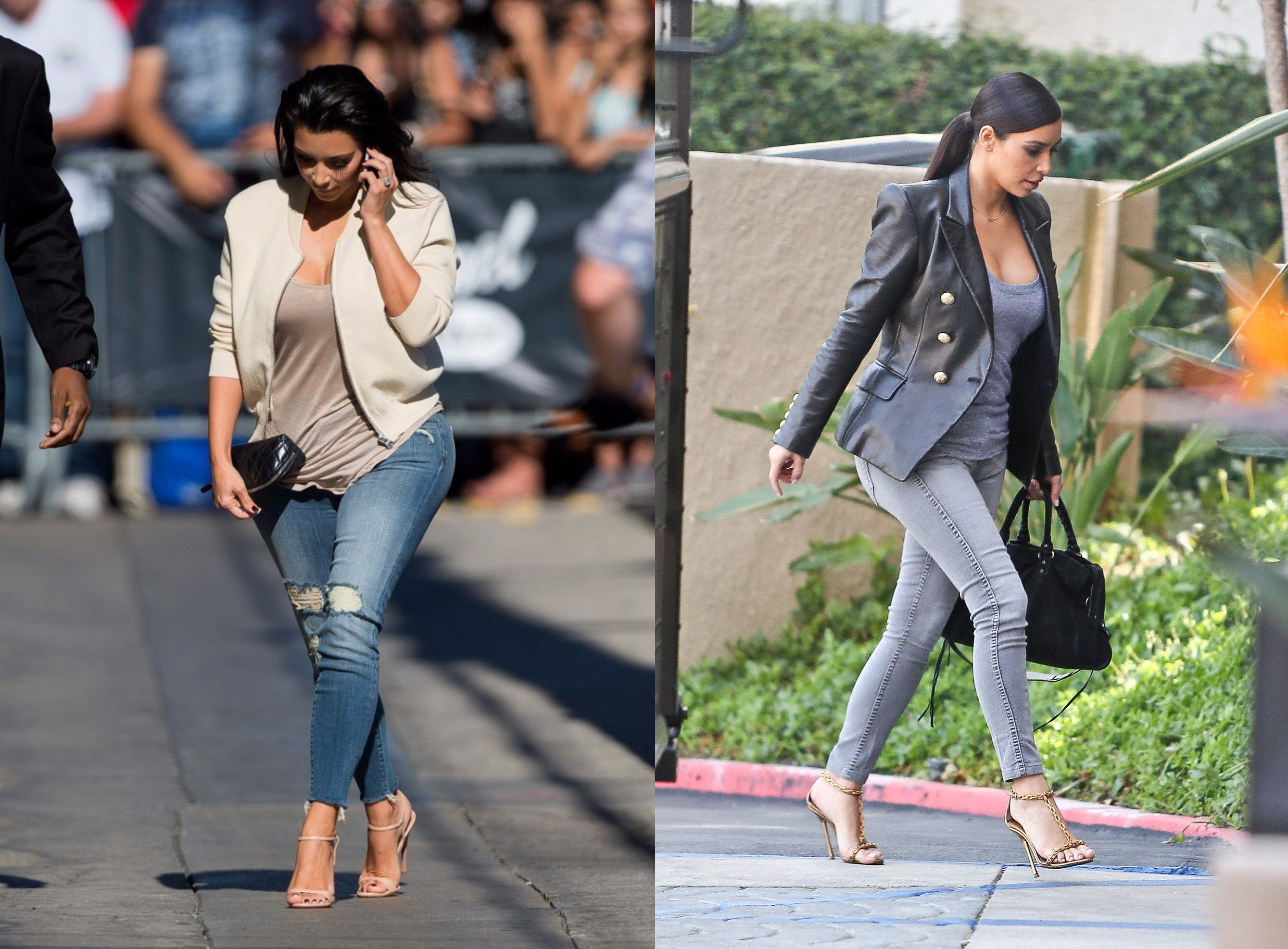 Hair Style Jeans: Kim Kardashian Style Hair Color And Outfits