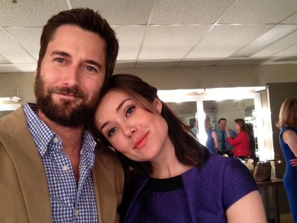 Ryan Eggold with co-star Megan Boone
