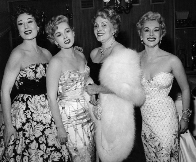 The Gabor Sisters and their mother