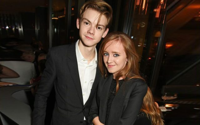 Thomas Brodie-Sangster and girlfriend
