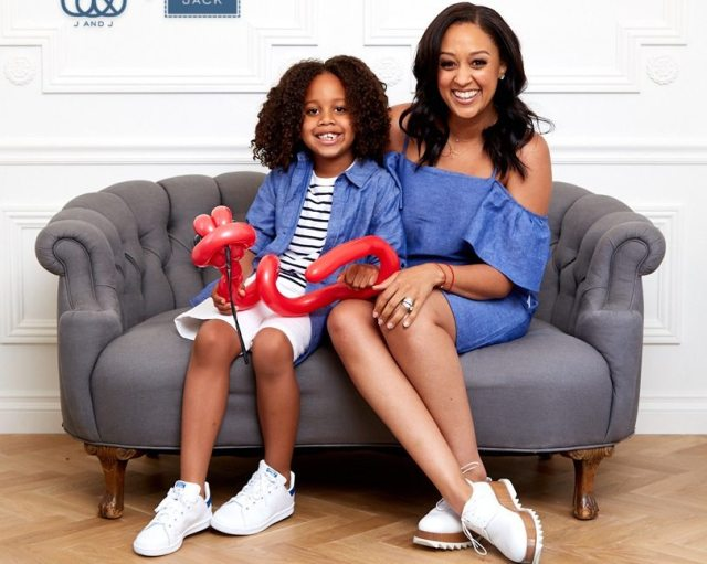Tia Mowry and Son