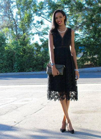 The Perfect Black Lace Dress