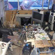 Vervuilde woning ontruiming achterkamertje