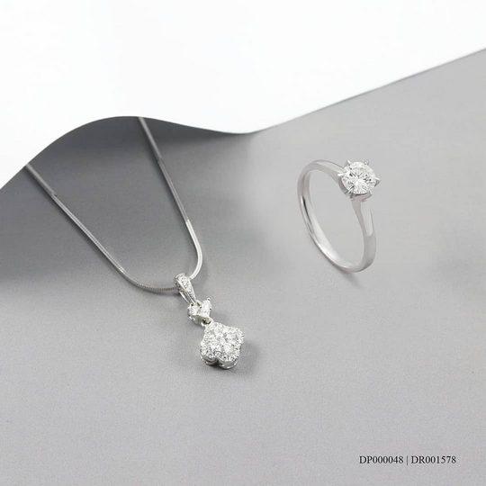 15+ Olshop Sedia 1 Set Perhiasan Emas Putih untuk ...