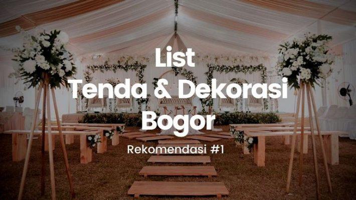 Tenda dan dekorasi Bogor