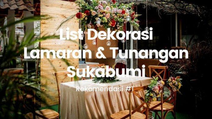 Dekorasi lamaran dan tunangan Sukabumi