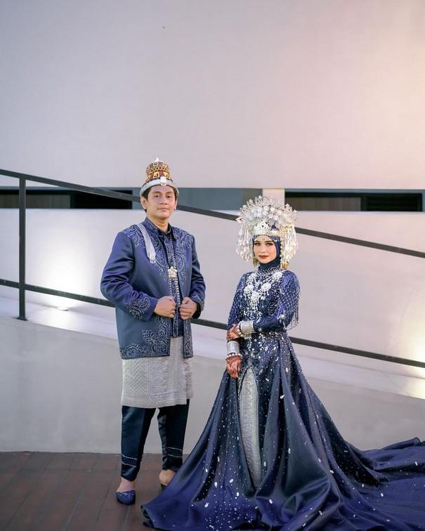 wedding dress muslimah mewah