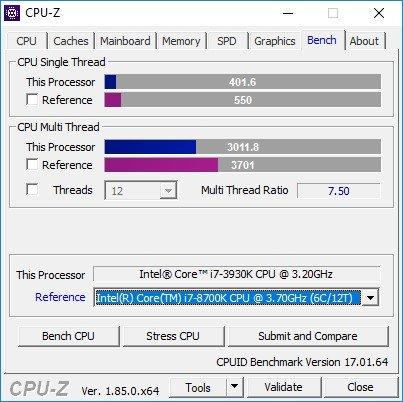 Windows 10 VM CPU benchmark