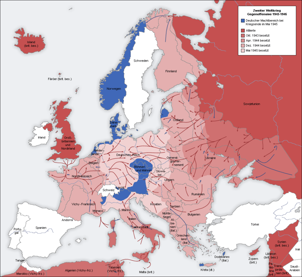 Axis Map - Zweter Weltrieg Geneoffensive (Counter Offensive) 1941-1942 (2/3)