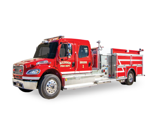 Heiman Fire Rosenbauer Pumper Madison SD Fire Dept