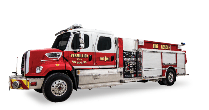 Heiman Fire Rosenbauer Pumper Tanker for Vermillion Rural Fire SD
