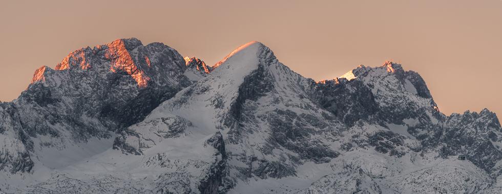 Top of Wetterstein im ersten licht