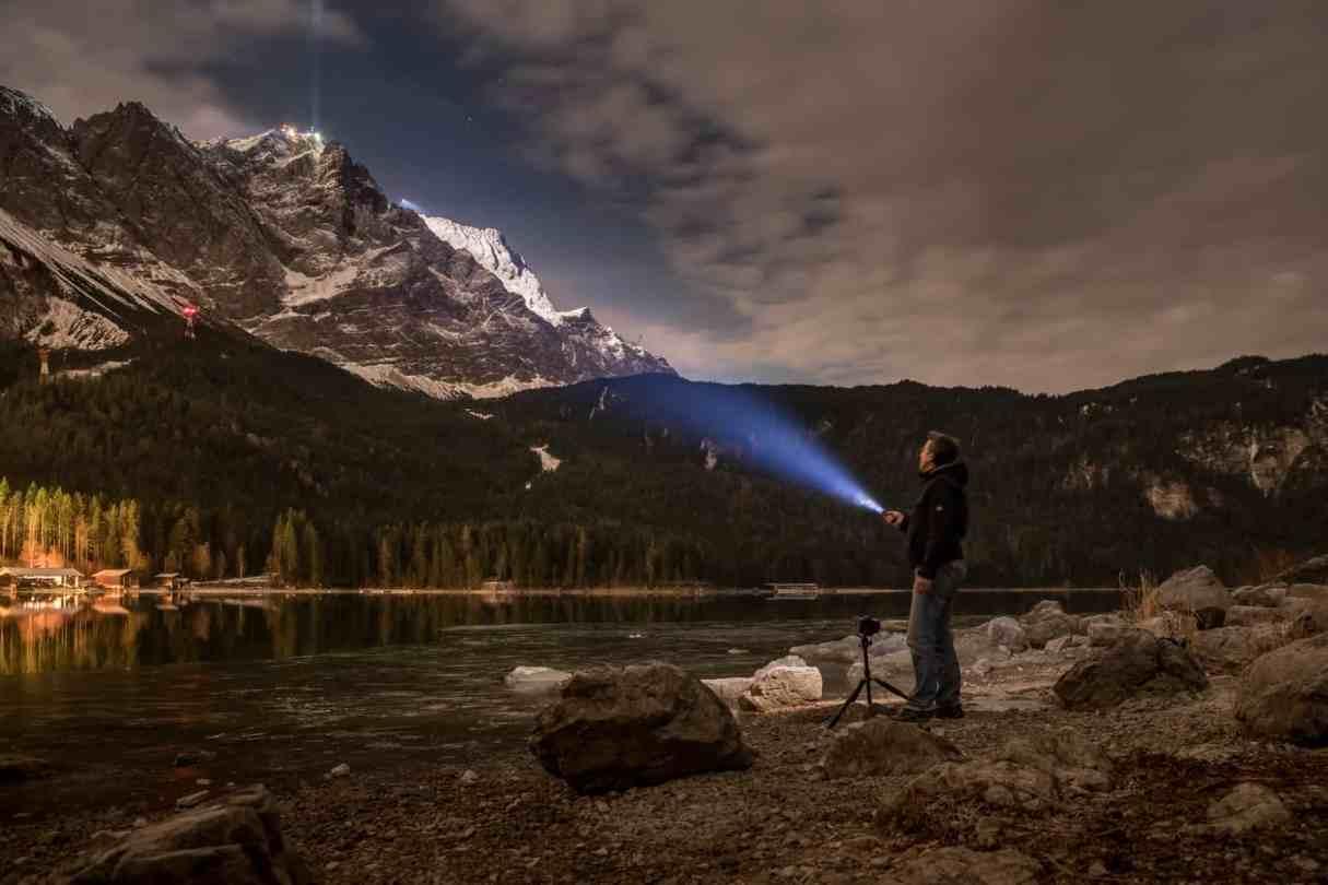 Fotografieren Nachts am Eibsee