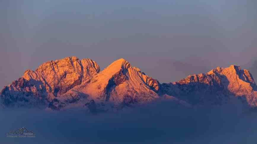 Morgenrot am Zugspitzmassiv