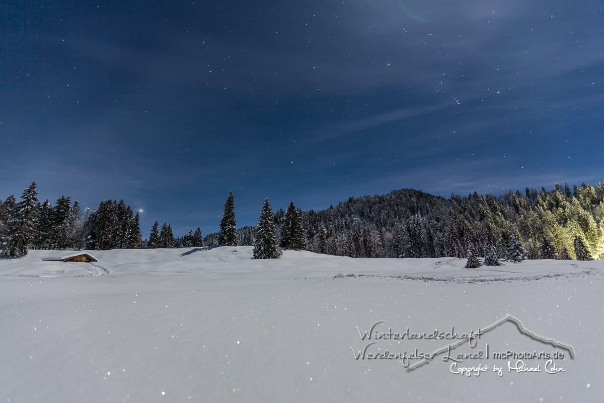 Winterlandschaft im Werdenfelser Land