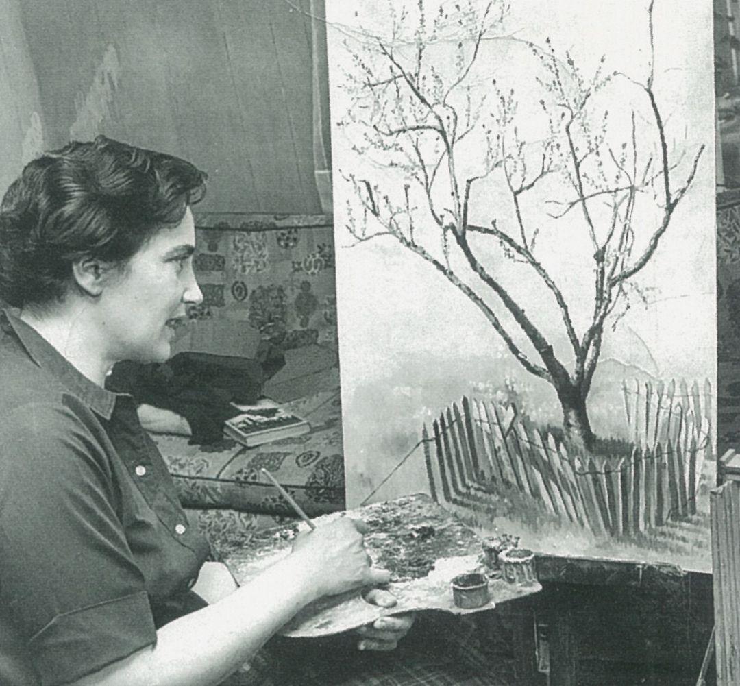 Eva Salier Hellendag im Atelier siehe Kirmes-Magazin 2017