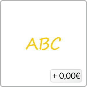 Schriftfarbe gelb