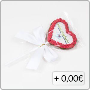 Klarsichttuete Lolli Schleifenband