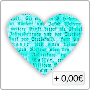 Schrift hellblau