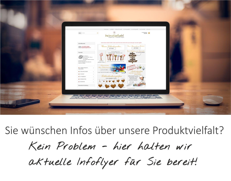 Sie wünschen Infos über unsere Produktvielfalt? Kein Problem - hier halten wir aktuelle Infoflyer für Sie bereit!