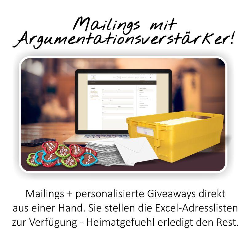 Mailings Personalisierte Giveaways